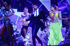 Ranveer Singh grooves to the music.