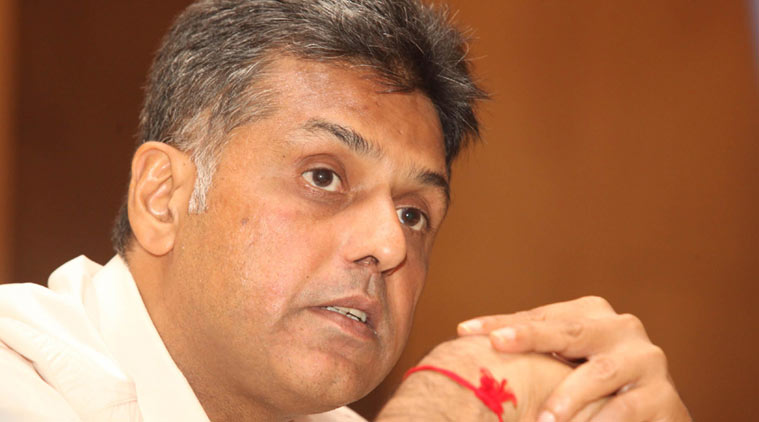 Former Union Minister Manish Tewari. (Express Archive)